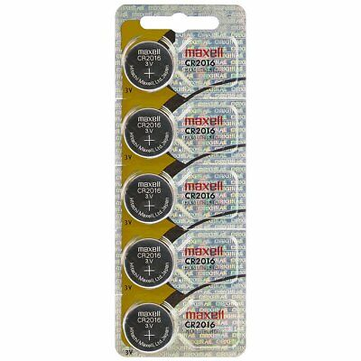 Maxell CR2016 3V Lithium Coin Cells (5 Batteries)