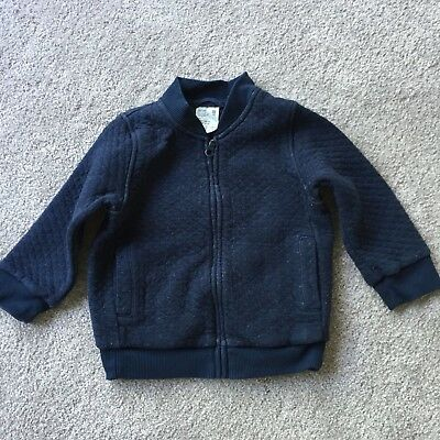 Uniqlo Unisex Navy Blue Quilted Bomber Jacket with 2 pockets Size 100