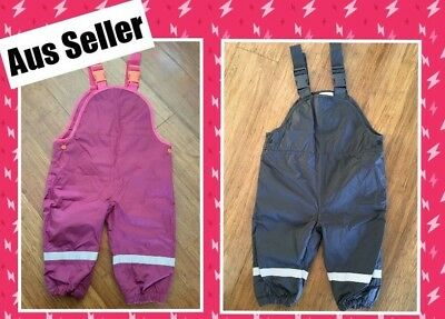 Girls Boys Toddler Baby Winter Outdoor Waterproof Pants Overalls size1 12-18mths