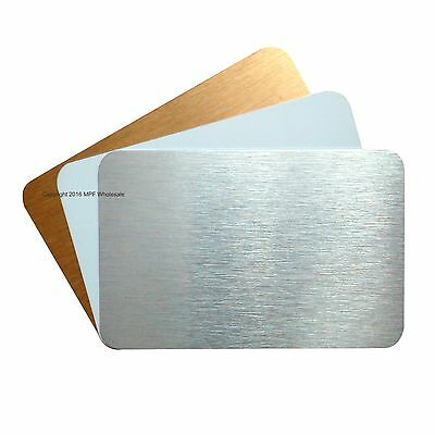 Blank Aluminium SMALL Metal Cards Dye Sublimation WHITE 83x53mm