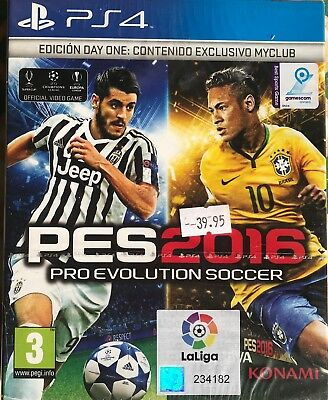 FIFA 16 AND Pro Evolution Soccer 2016 PES 16 PS4 New