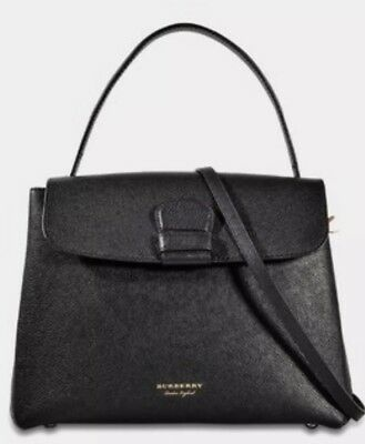 d377b4a331e0 NWT Black Burberry Derby Leather House Check Medium Camberley Tote Satchel  Bag