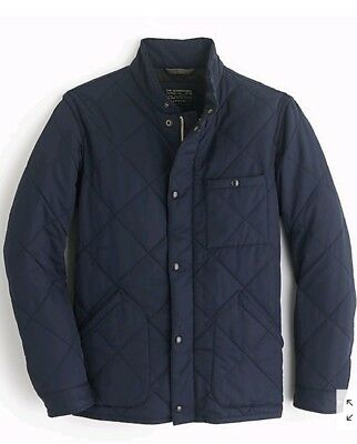 J CREW Navy Blue Thermore Insulated Quilted Jacket MEDIUM Sussex