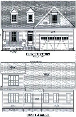 Complete House Plans 1,858 SF Blueprint Plans