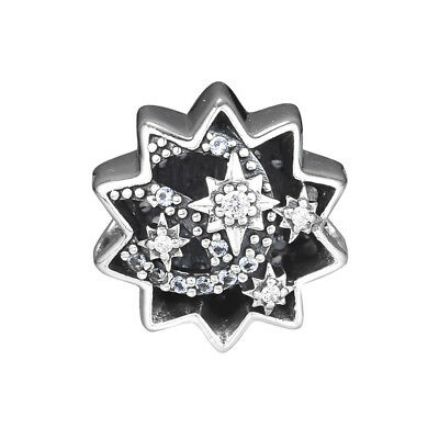 New Authentic Sterling Silver When You Wish Upon a Star CZ Bead Charms