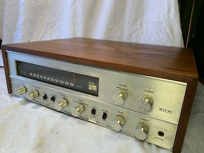 EICO MPX 3566 Walnut Cabinet Vintage 1966 Stereo Tube Receiver Amplifier Amp