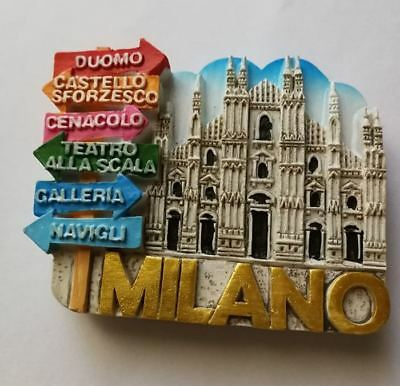 Fridge magnet  resin - Milano