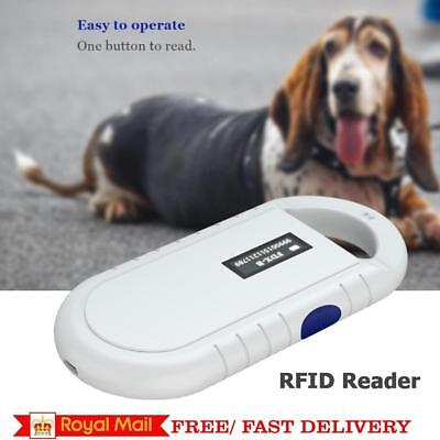 Portable Animal Microchip RFID Recognition Reader ID Scanner for Animal Pets NEW