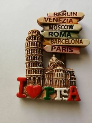 Fridge magnet  resin - Pisa