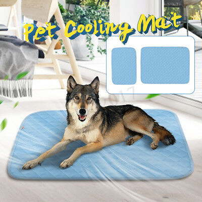 Pet Cat Dog Cooling Mat Summer Heat Relief Cooler Cold Fabric Bed Cushion