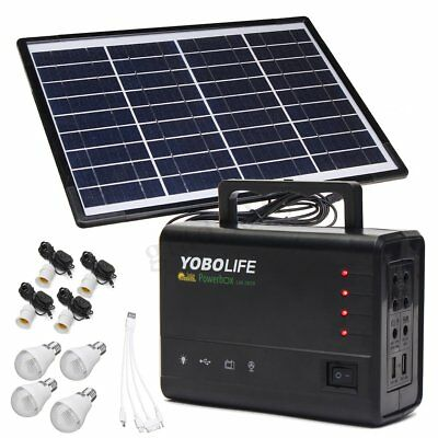 20w 18V Solar Panel RV Boat Power Storage Generator LED USB Charger System