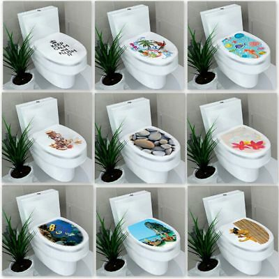 New PVC Decoration Bathroom Toilet Seats Stickers Vinyl Mural 3d Decal