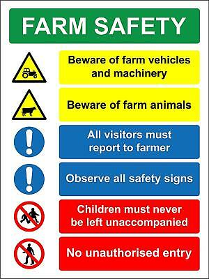 Farm safety multi hazard Safety sign