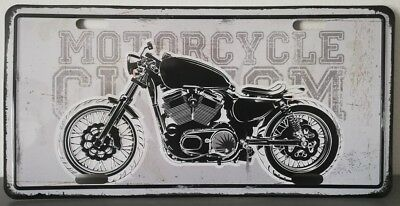 Rare plaque tôle HARLEY MOTORCYCLE CUSTOM style EMAIL 15X30 VINTAGE 66 USA