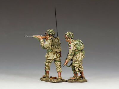 """KING & COUNTRY DD285-1 WWII D-DAY U.S. 82nd AIRBORNE """"COVERING FIRE"""" SET  MIB!"""