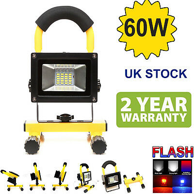 60W Work Light Rechargeable 30 LED Floodlight Security USB Outdoor Camping Lamp
