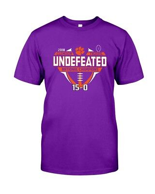 Clemson Tigers 2018-2019 Football National Champions Undefeated T-Shirt