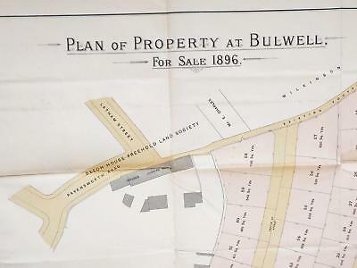 1896 Bulwell Nottingham Auction Sales Particulars with large folding Colour Plan