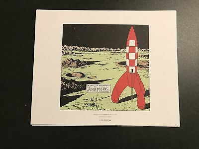 TINTIN - on a marché… - size:19,5x24cm - POSTER ROLLED