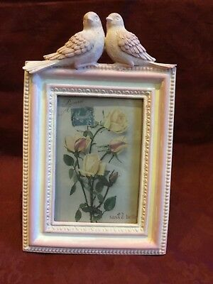Sass & Belle Pastel Pink Free Standing 🕊 BIRD PHOTO FRAME 🕊Country Chic/Gift