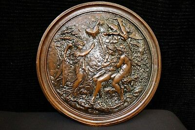 """STUNNING LARGE ANTIQUE COPPER """"'PARADISE LOST"""" BY ELKINGTON 19th  CENTURY"""