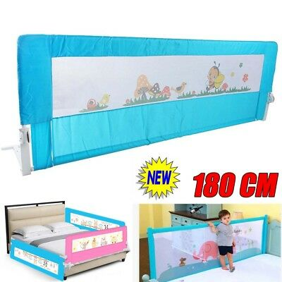 UK Infant Cot Bed Rail Single Toddler Child Sleep Safety Guard Protection 180 cm