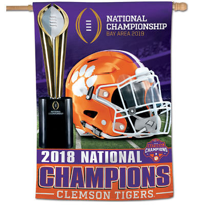 Clemson Tigers 2018 College Football National Champions House Flag