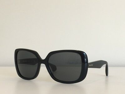 e34231f385a 11 MIU MIU SMU 09P 1AB-0A7 Square Black Gray Gradient Sunglasses 54 ...
