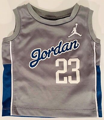 Michael Jordan 23 Boys Toddler Infant Gray Jersey Tank Top