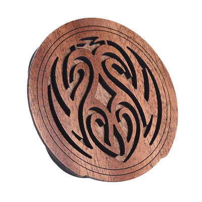 Acoustic Guitar Feedback Buster Fire Soundhole Cover Sound Buffer Wood Gift X9V8