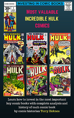 INVESTING IN COMIC BOOKS - Top Most Valuable Key books THE INCREDIBLE HULK 1962