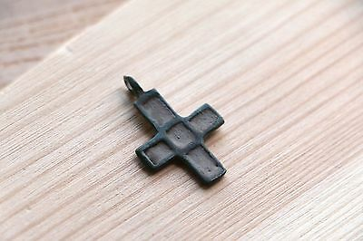 Fantastic Viking Kievan Rus Pendant Cross with with rectangular ends 10-11 AD