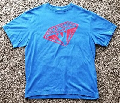 4454a8178e1f BILLIONAIRE BOYS CLUB XL T Shirt Blue Red Diamond PreOwned X-Large - Fast  Ship