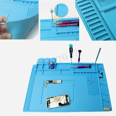 Heat Insulation Silicone Pad Soldering Desk Mat Work Platform For Phone