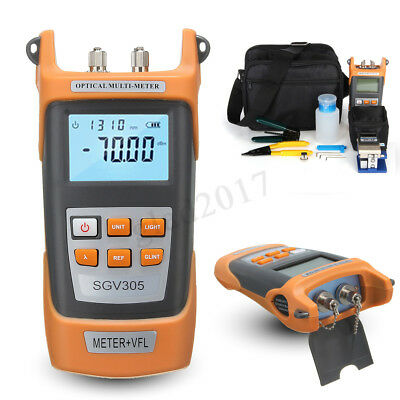 FTTH Tool Kit Visible Fiber Optic Fault Locator Power Meter Tester Cleaver  new