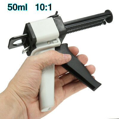 50ML 1:1 2:1 AB Glue Gun Resin Dispenser Pistol Static Mixer Mixing Nozzle