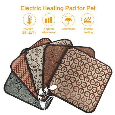 2018 Pet Electric Heat Heated Heating Pad Mat Blanket Bed Dog Cat Waterproof