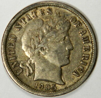 1905-O Barber Dime ~ Very-Fine ~ Priced Right! #0108