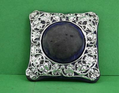 Art Nouveau Sterling Silver Pin Cushion Synyer & Beddoes Birmingham 1905