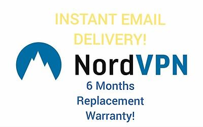 ✔Nord VPN 6 Month Subscription Warranty | Instant Email Delivery