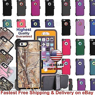 For iPhone 6 Plus iPhone 6S Plus 6 6s Defender Case,Clip fits Otterbox Defender