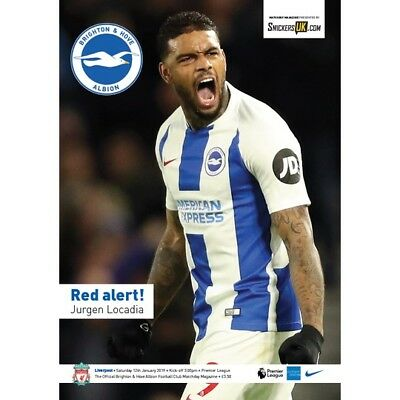 BRIGHTON  v  LIVERPOOL 12/1/2019  OFFICIAL PROGRAMME