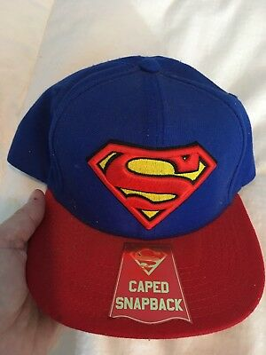 6da3d0c4432eb Superman TM   DC Comics Red   Blue Ball Cap Hat Snapback Hero Collectible  New