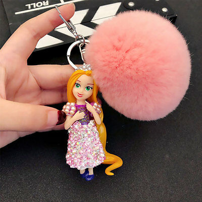 Keychain Key Ring Crystal Rhinestone Bag Pendant Ball Princess Bling Cake Decro