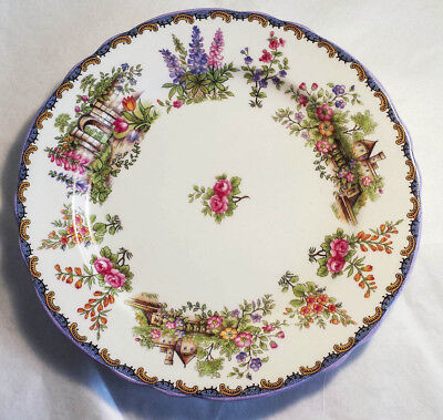 "Vintage - Aynsley China - One Lovely 8"" Plate - Garden Gate Pattern"