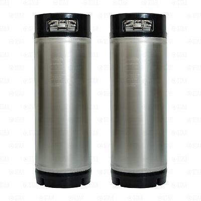 5 Gallon Ball Lock Corny Kegs for Home Brewing Beer Coffee Soda SET OF 2
