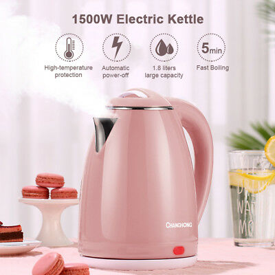 1.8L 1500W Electric Kettle Water Heater Boiler Stainless Steel Cordless Tea Jug
