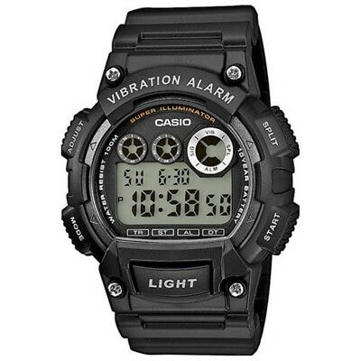 Casio Men's Core W-735H-1A Black Resin Quartz Watch with Digital Dial with BOX!!