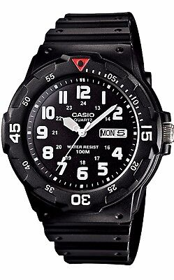 MRW-200H-1B Casio Men's Watch Date/Day Analog Quartz Black Resin MRW200H-1B