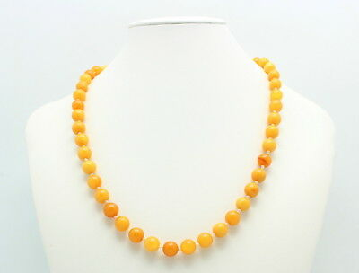 Vintage Genuine Baltic Butterscotch Amber Bead Necklace 18.6 Grams
